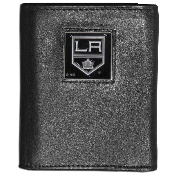 NHL - Los Angeles Kings Leather Tri-fold Wallet-Wallets & Checkbook Covers,Tri-fold Wallets,Tri-fold Wallets,NHL Tri-fold Wallets-JadeMoghul Inc.