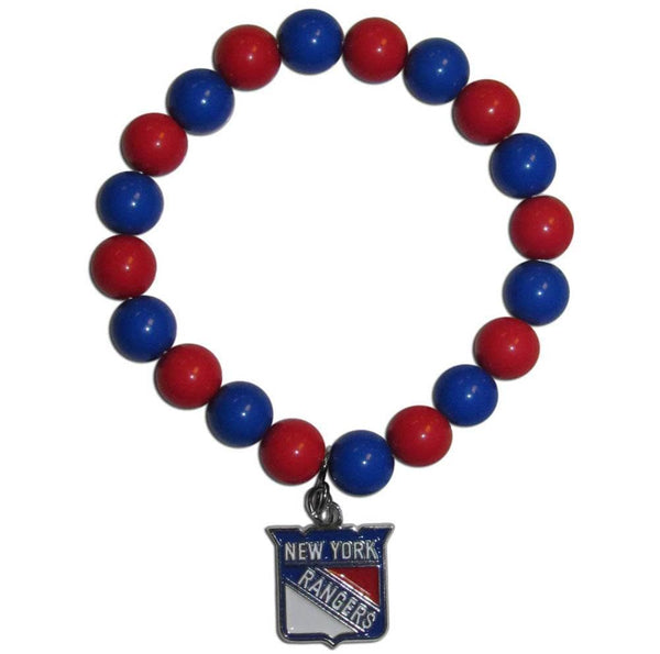 NHL - New York Rangers Fan Bead Bracelet-Jewelry & Accessories,Bracelets,Fan Bead Bracelets,NHL Fan Bead Bracelets-JadeMoghul Inc.