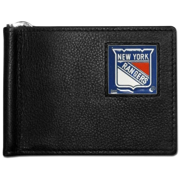 NHL - New York Rangers Leather Bill Clip Wallet-Wallets & Checkbook Covers,Bill Clip Wallets,NHL Bill Clip Wallets-JadeMoghul Inc.