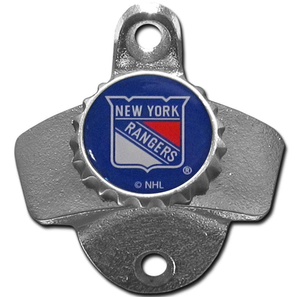 NHL - New York Rangers Wall Mounted Bottle Opener-Home & Office,Wall Mounted Bottle Openers,NHL Wall Mounted Bottle Openers-JadeMoghul Inc.