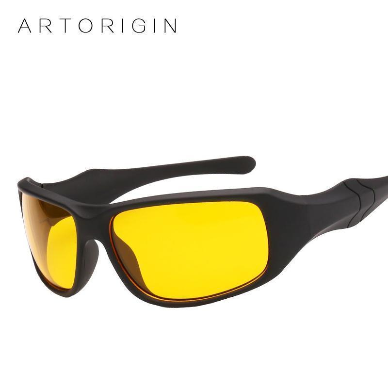 Night Driving Glasses / Anti Glare Glasses / Safety Driving Goggles-C1 Black Yellow-JadeMoghul Inc.