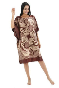 Novelty Print Satin Robe Dress - Novelty Women's Bath Gown-19-One Size-JadeMoghul Inc.