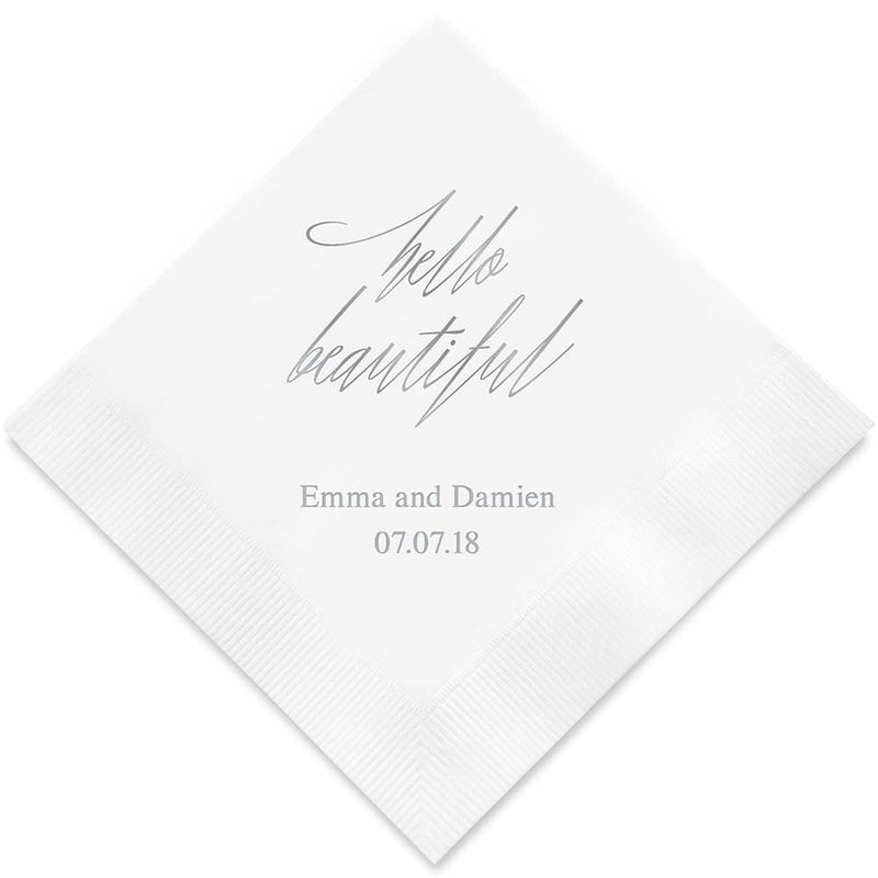 Printed Napkins Dinner - Rectangular Fold Espresso (Pack of 80)