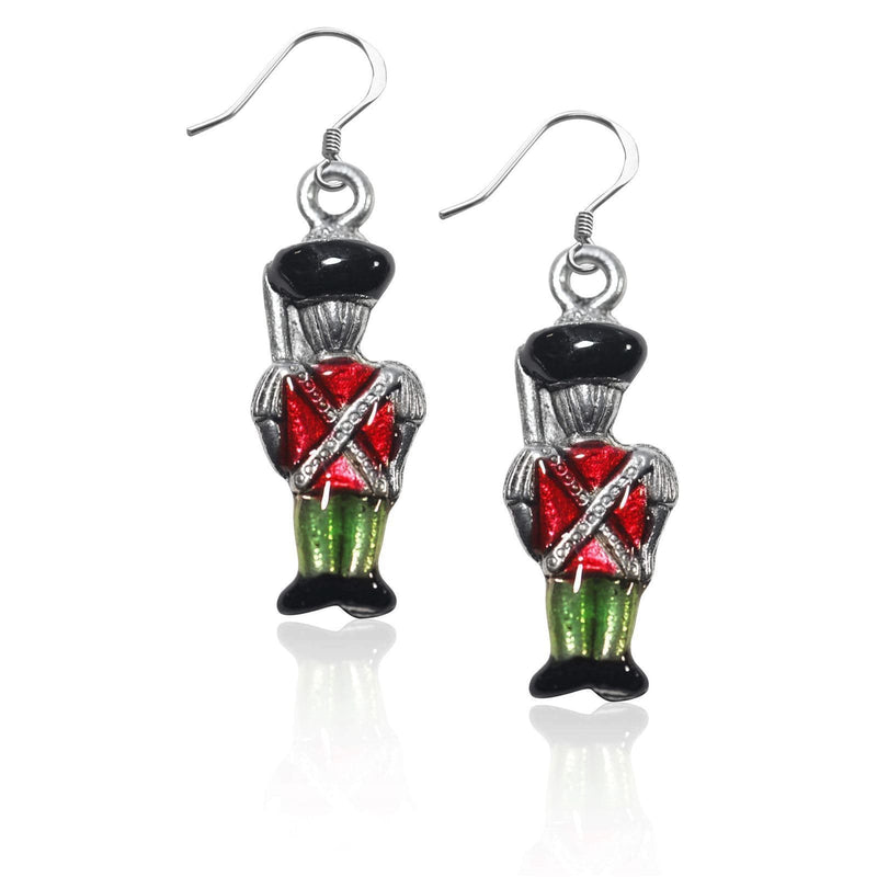Nutcracker Charm Earrings in Silver-Charm-JadeMoghul Inc.