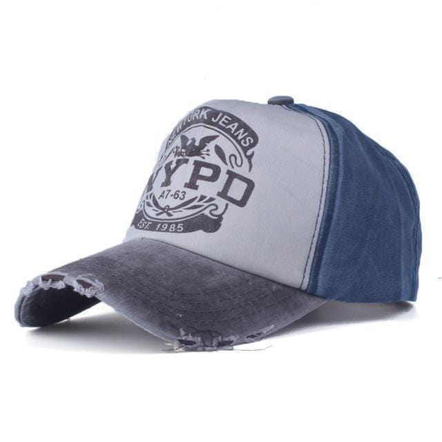 NYPD Casual Cap / Unisex Baseball Cap-coffer and dark blue-56to61cm-JadeMoghul Inc.