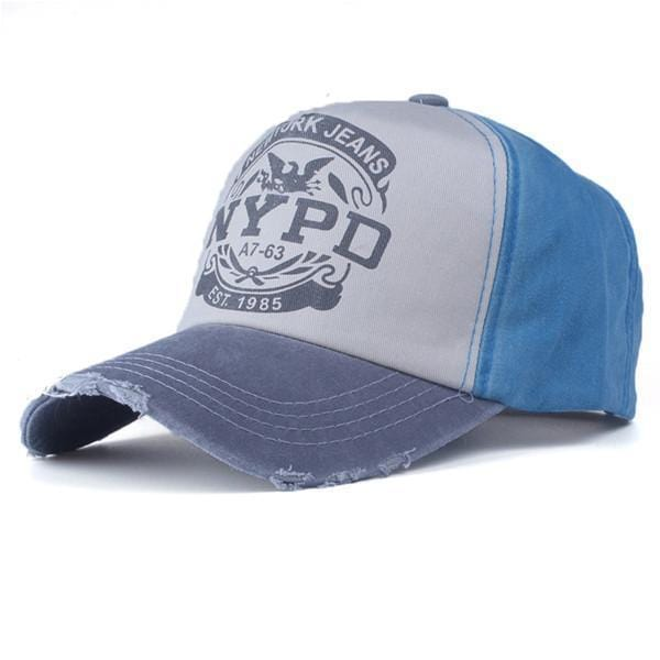 NYPD Casual Cap / Unisex Baseball Cap-gray and blue-56to61cm-JadeMoghul Inc.