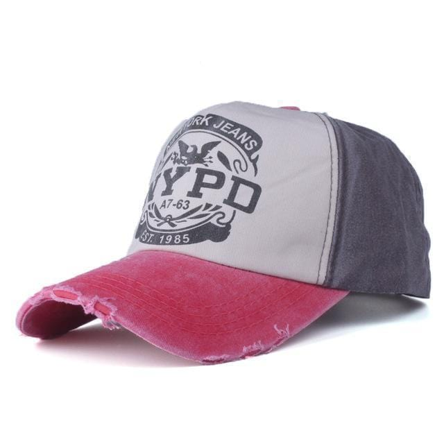 NYPD Casual Cap / Unisex Baseball Cap-red and coffer-56to61cm-JadeMoghul Inc.