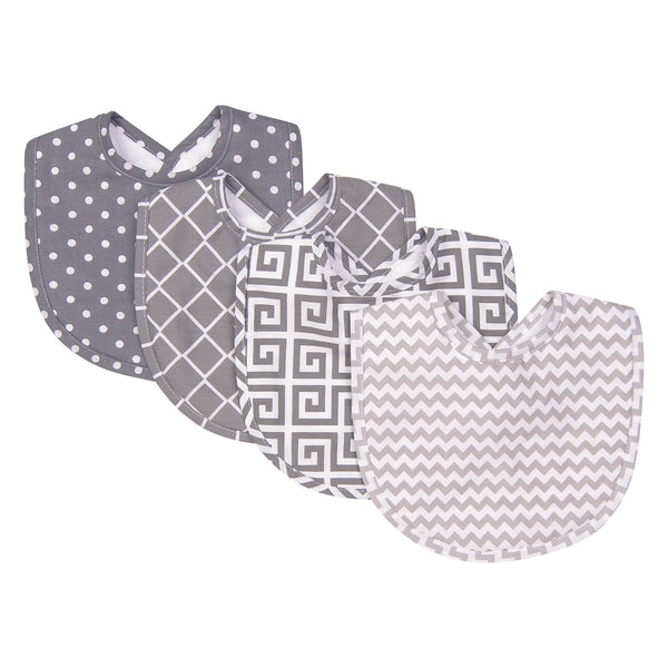 Ombre Gray 4 Pack Bib Set-GRAY OMBRE-JadeMoghul Inc.