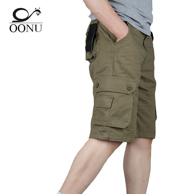 OONU 2017 Hot Summer Men's Army Cargo Work Casual Bermuda Men Shorts Fashion Joggers Overall military Trousers Plus size 29-46-Black-29-JadeMoghul Inc.