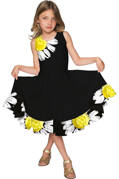 Oopsy Daisy Vizcaya Fit & Flare Black Fancy Dress - Girls-Oopsy Daisy-JadeMoghul Inc.