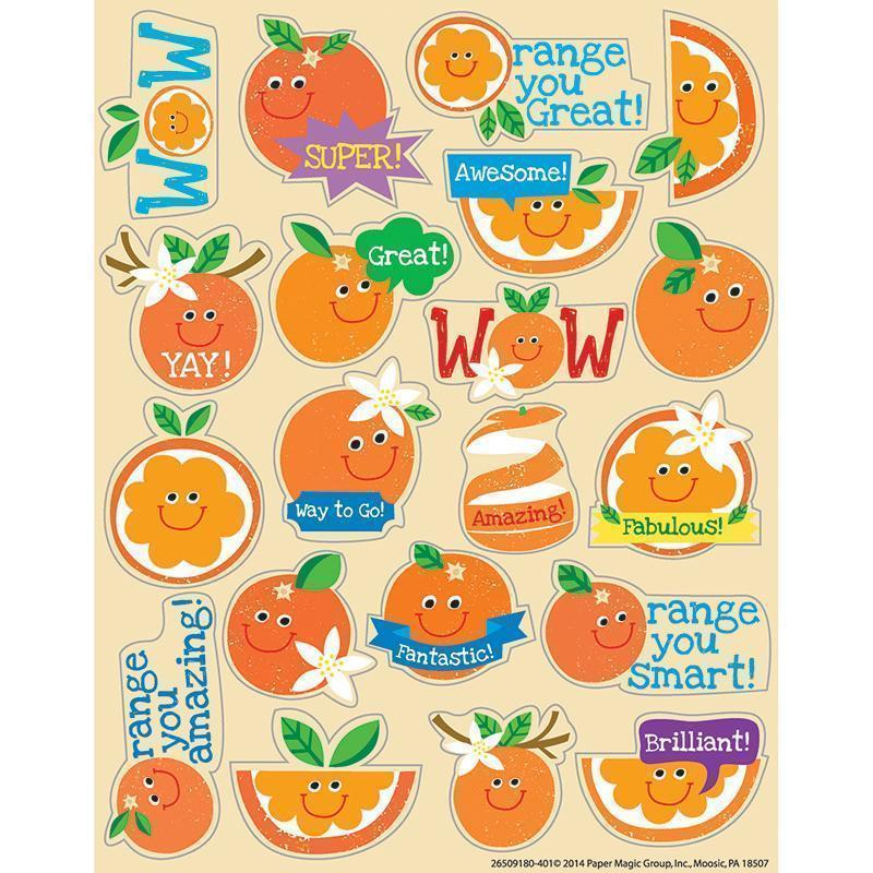 ORANGE SCENTED STICKERS-Learning Materials-JadeMoghul Inc.
