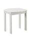 Outdoor Wooden End Table with Slatted Top and Block Legs, White-Patio Furniture-White-Solid Wood and Acacia Wood-JadeMoghul Inc.