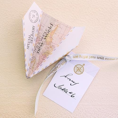 Paper Airplane Wishing Well Stationery Set (Pack of 25)-Wedding Reception Accessories-JadeMoghul Inc.