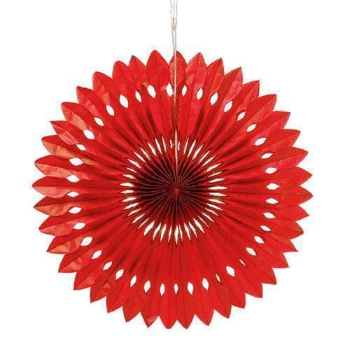 Paper Pinwheel Decor - Red (Pack of 1)-Wedding Reception Decorations-JadeMoghul Inc.