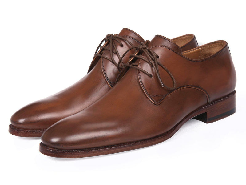 Paul Parkman (FREE Shipping) Antique Brown Derby Shoes (ID