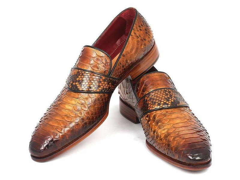 Paul Parkman (FREE Shipping) Genuine Python Loafers Camel (ID