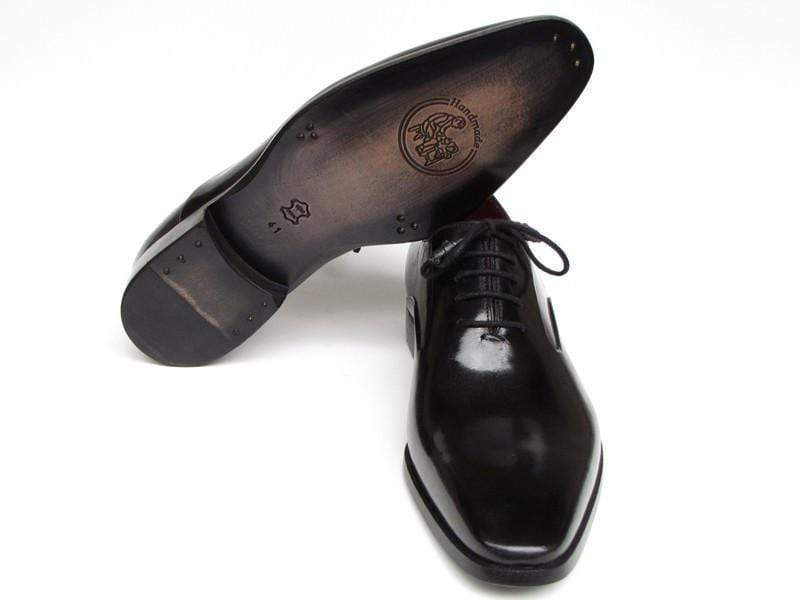 Paul Parkman (FREE Shipping) Men's Black Oxfords Leather Upper and Leather Sole (ID