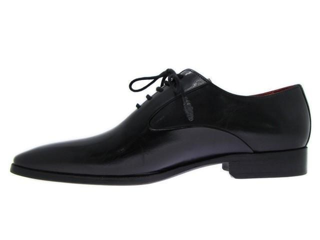 Paul Parkman (FREE Shipping) Men's Black Oxfords Leather Upper and Leather Sole-Leather Shoes-JadeMoghul Inc.