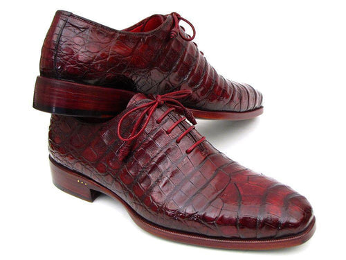 Paul Parkman (FREE Shipping) Men's Bordeaux Genuine Crocodile Oxfords (ID#23XF55)-JadeMoghul Inc.