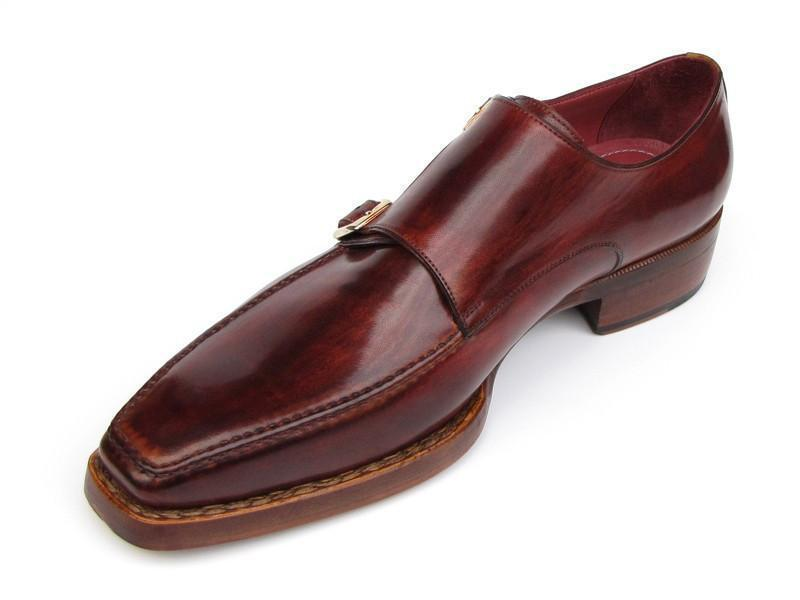 Paul Parkman (FREE Shipping) Men's Double Monkstrap Goodyear Welted Shoes (ID