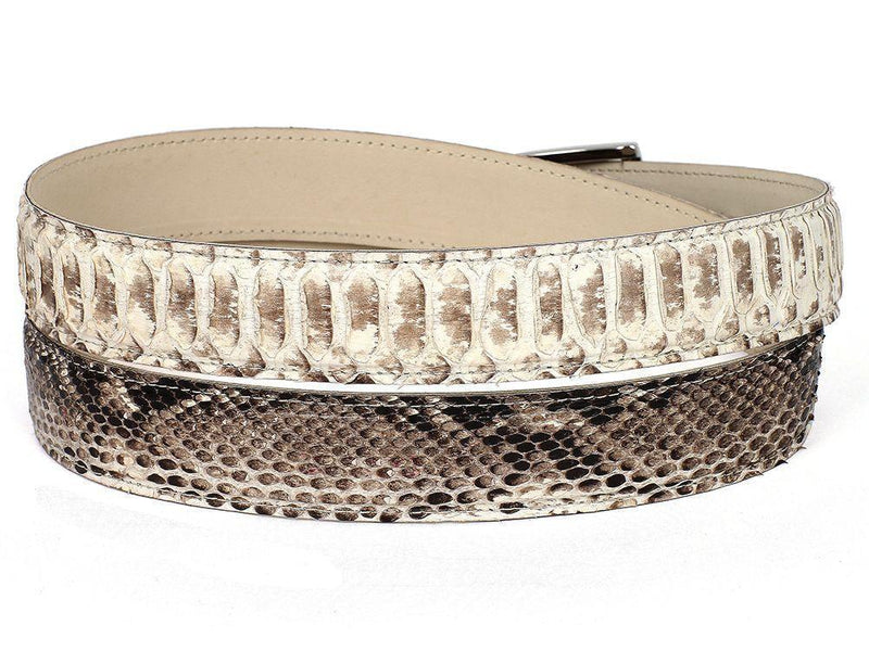 Paul Parkman (FREE Shipping) Men's Natural Genuine Python (snakeskin) Belt (ID