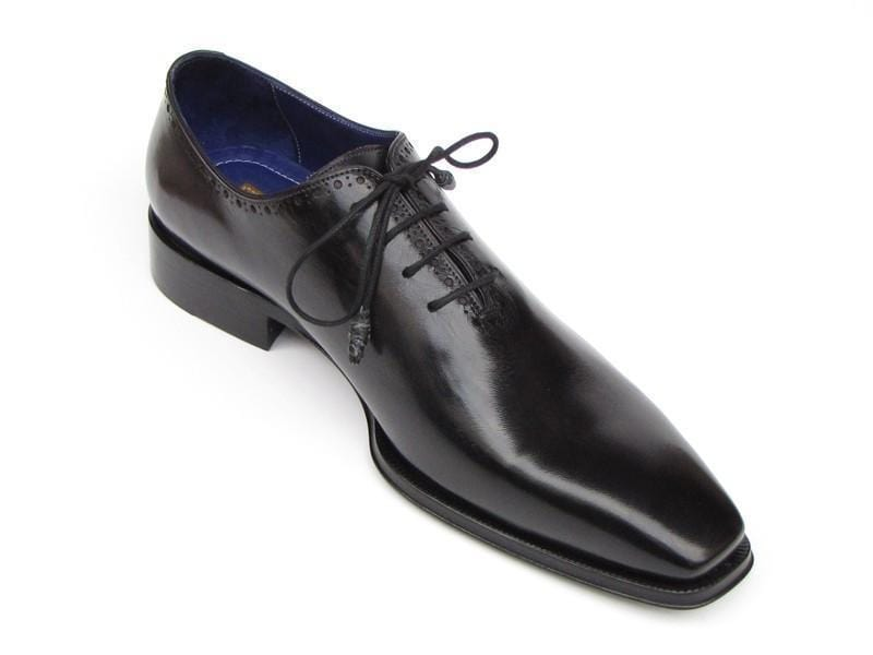 Paul Parkman (FREE Shipping) Men's Plain Toe Oxfords Whole-cut Black (ID