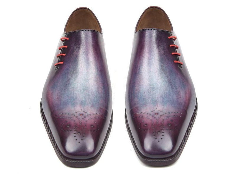 Paul Parkman (FREE Shipping) Side Lace Oxfords Purple (ID