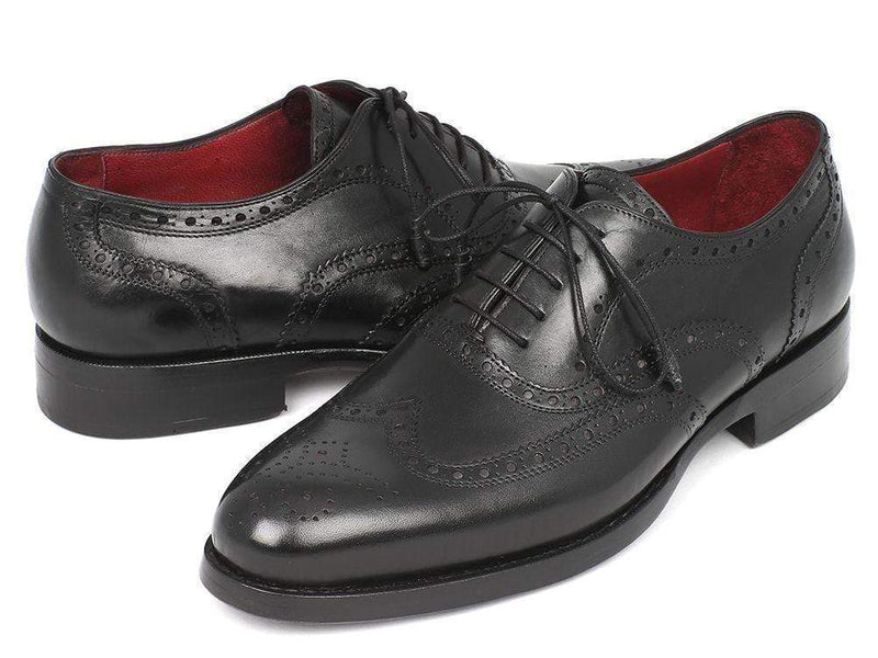 Paul Parkman (FREE Shipping) Wingtip Oxford Goodyear Welted Black (ID