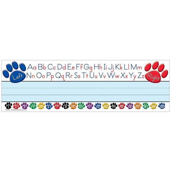 PAW PRINTS LEFT/RIGHT ALPHABET NAME-Learning Materials-JadeMoghul Inc.