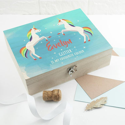 Personalised Rainbow Unicorn Accessories Box-Wooden Gifts & Accessories,Home & Garden Gifts-JadeMoghul Inc.