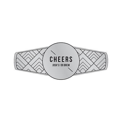 Personalized Cigar Band / Beer Bottle Neck Label - Silver Metallic Foil Silver (Pack of 1)-Wedding Favor Stationery-Pewter Grey-JadeMoghul Inc.