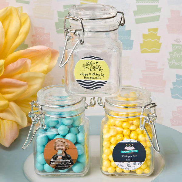 Personalized Classic Apothecary Glass Jar - Birthday Design-Favors By Season-JadeMoghul Inc.