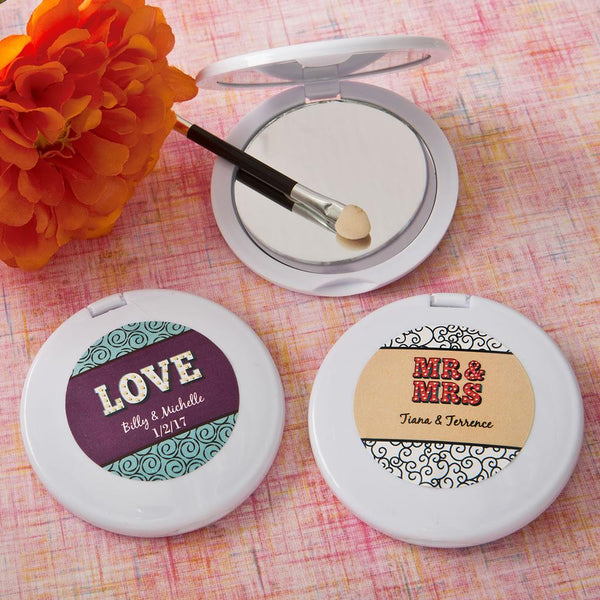 personalized compact mirror from fashioncraft - Marquee design-Personalized Gifts for Men-JadeMoghul Inc.