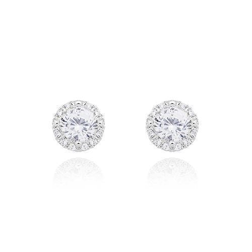 Personalized Gifts for Women Round Crystal Stud Earrings (Pack of 1) JM Weddings