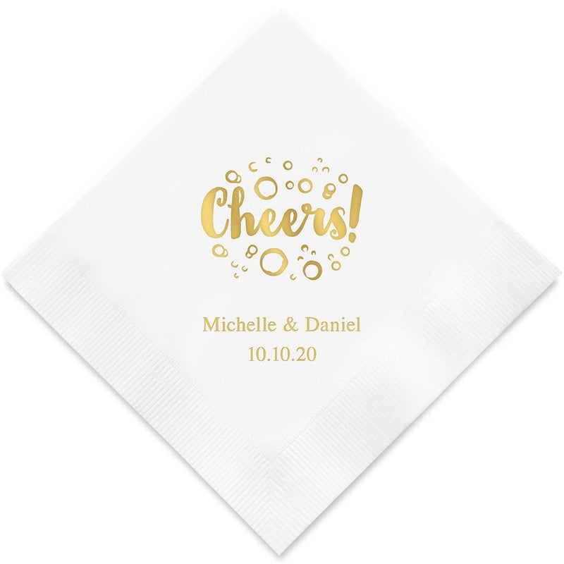 Personalized Paper Napkins Printed Napkins Dinner - Rectangular Fold Espresso (Pack of 80) JM Weddings
