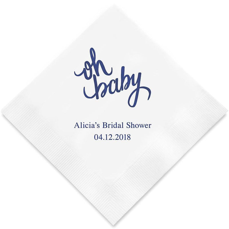 Personalized Paper Napkins Printed Napkins Dinner - Rectangular Fold Espresso (Pack of 80) Weddingstar