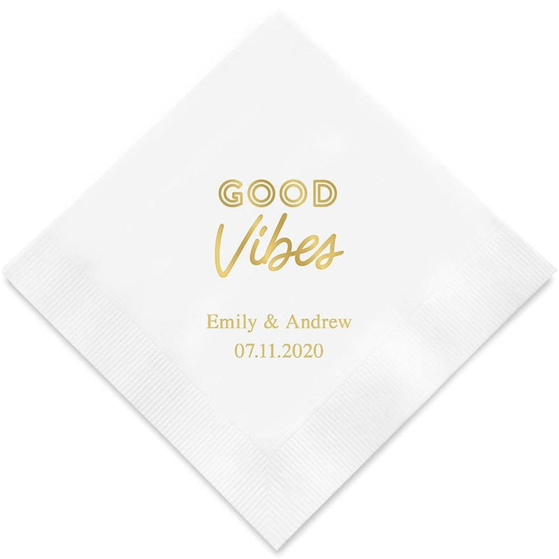 Personalized Paper Napkins Printed Napkins Dinner - Rectangular Fold Purple (Pack of 80) Weddingstar