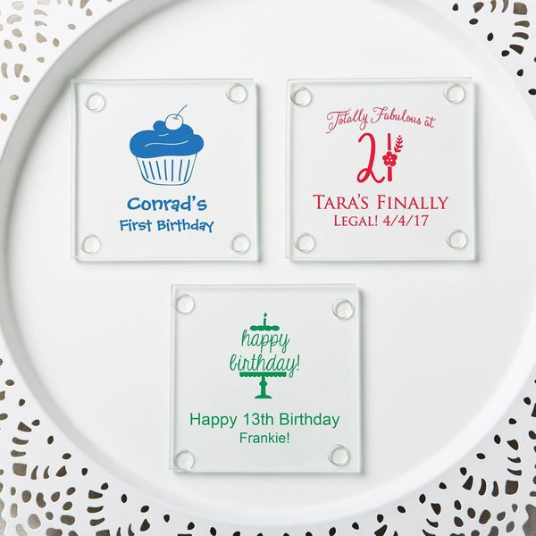 Personalized Stylish coasters from fashioncraft - birthday design-Favors By Season-JadeMoghul Inc.