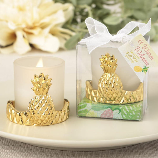 Pineapple design votive candle holder from the Warm Welcome Collection-Wedding Reception Decorations-JadeMoghul Inc.