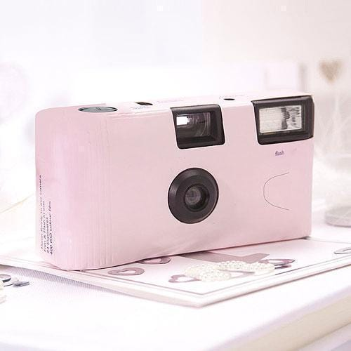 Pink Single Use Camera – Solid Color Design (Pack of 1)-Disposable Cameras-JadeMoghul Inc.
