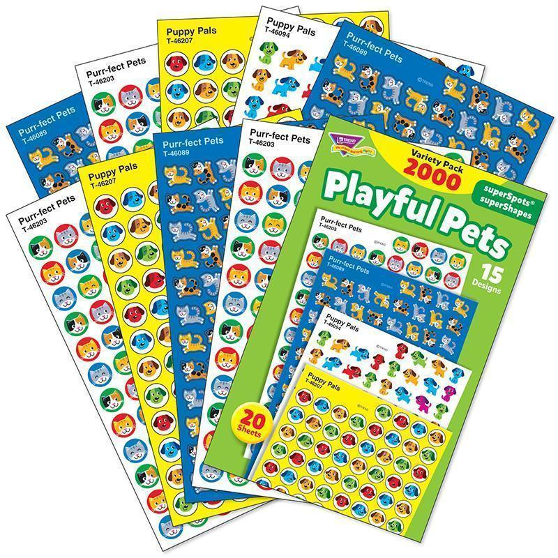 PLAYFUL PETS VARIETY PACK STICKERS-Learning Materials-JadeMoghul Inc.