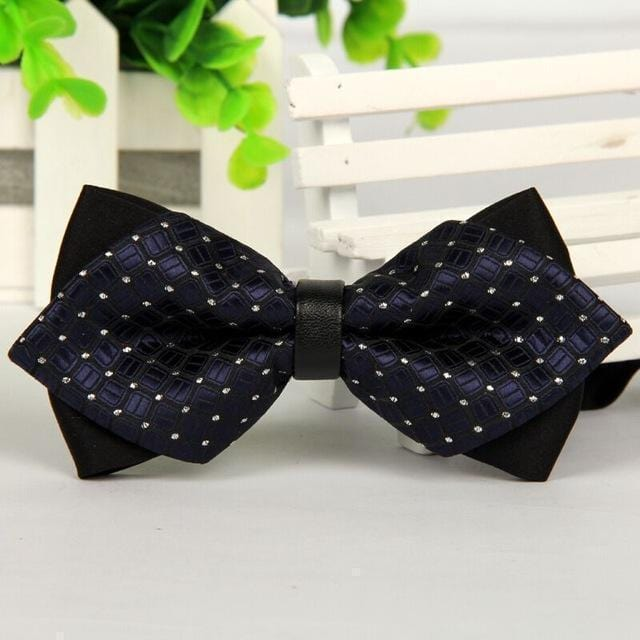 pointed 12cm*6cm men tie bow ties 2014 Blue jacquard silk bowties luxury gravatas borboleta bulk lot Wholesale-7-JadeMoghul Inc.
