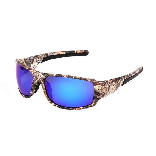 Polarized Sunglasses Camouflage Frame Sport Sun Glasses-Camo l Blue-JadeMoghul Inc.