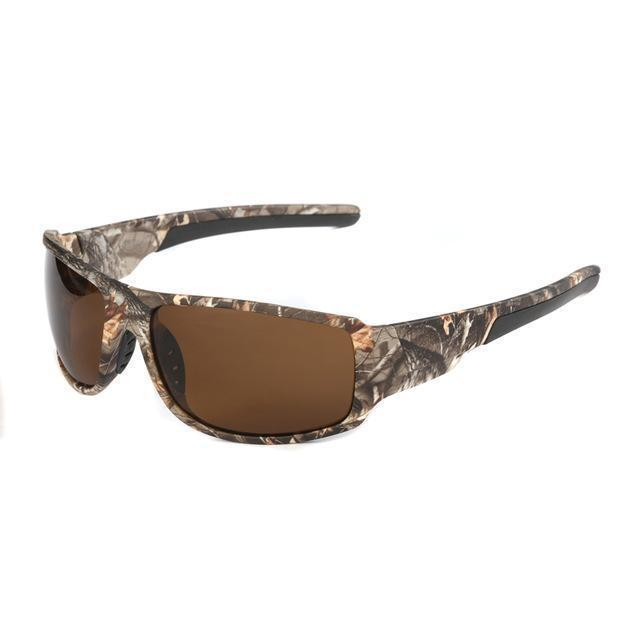 Polarized Sunglasses Camouflage Frame Sport Sun Glasses-Camo l Brown-JadeMoghul Inc.