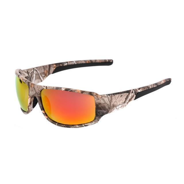 Polarized Sunglasses Camouflage Frame Sport Sun Glasses-Camo l Red-JadeMoghul Inc.