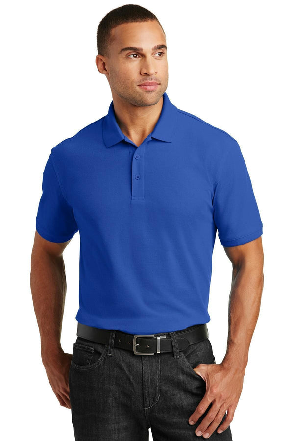 Port Authority Core Classic Pique Polo. K100-Polos/knits-True Royal-6XL-JadeMoghul Inc.