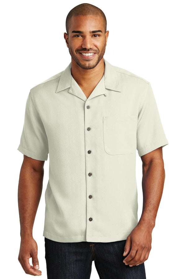 Port Authority Easy Care Camp Shirt. S535-Woven Shirts-Ivory-4XL-JadeMoghul Inc.