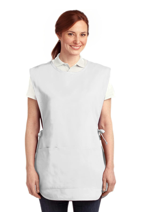 Port Authority Easy Care Cobbler Apron with Stain Release. A705-Workwear-White-L/XL-JadeMoghul Inc.