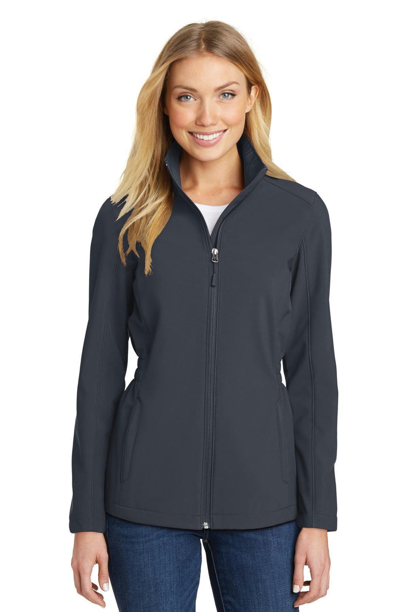 Port Authority Ladies Cinch-Waist Soft Shell Jacket. L334-Ladies-Battleship Grey-4XL-JadeMoghul Inc.