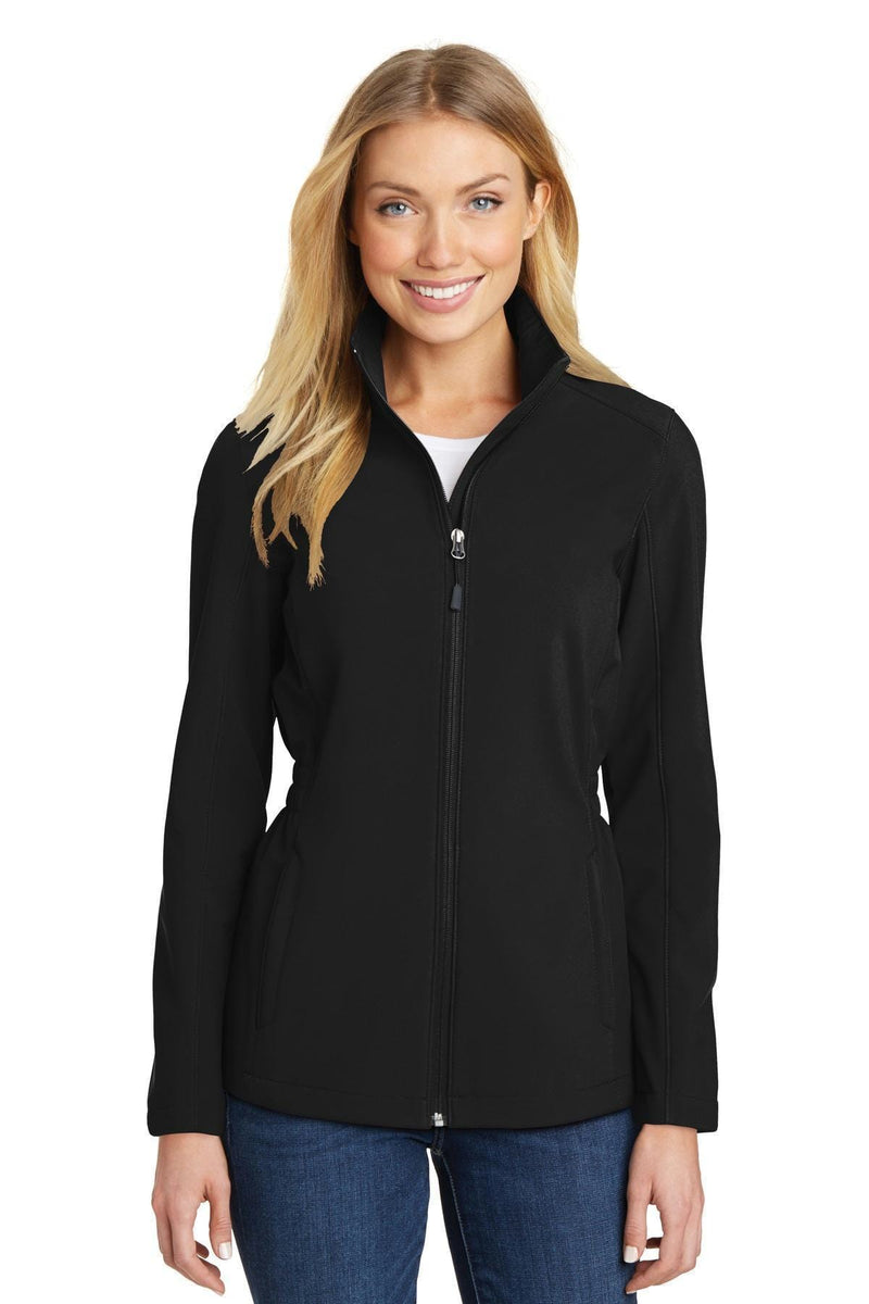 Port Authority Ladies Cinch-Waist Soft Shell Jacket. L334-Ladies-Black-4XL-JadeMoghul Inc.